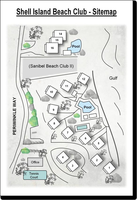 Site Map Shell Island Beach Club